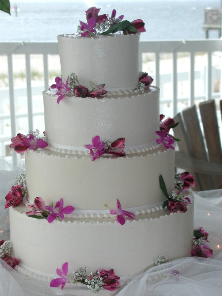 Wedding cakes with fresh flowers wedding pictures ideas